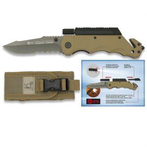 Couteau pliant tactique K25 - Coyote