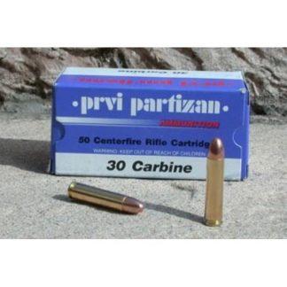 Cartouches Partizan .30 M1 110 Grains FMJ-RN x50