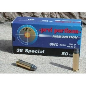 Cartouches Partizan Cal. .38 Special 158-Grs SWC x50
