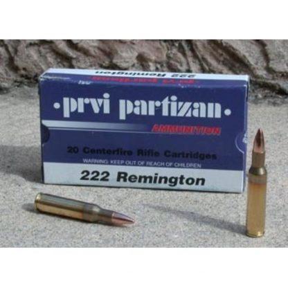 Cartouches Partizan Cal. .222 Remington 55-Grs FMJ x20