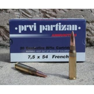 Cartouches Partizan Cal. 7,5x54 MAS (French) 139-Grs FMJ x20