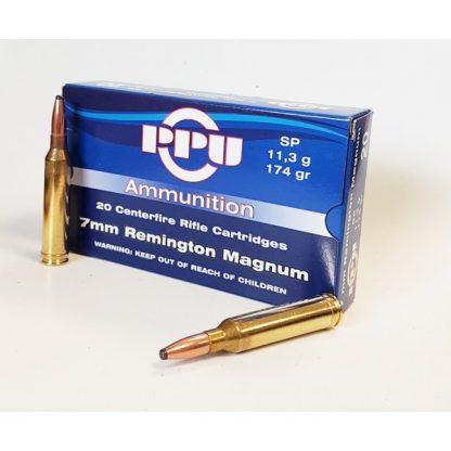 Cartouches Partizan Cal. 7mm Remington Magnum 174-Grs. SP x20