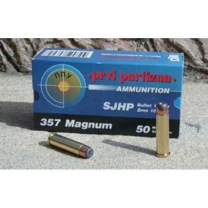 Cartouches Partizan Cal. .357 Magnum 158-Grs SJHP x50
