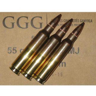 Munitions 5.56x45 FMJ 55gr GGG x1000 + caisse étanche