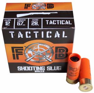 Cartouches FOB Tactical Shooting Slugs, cal 12/67 x25