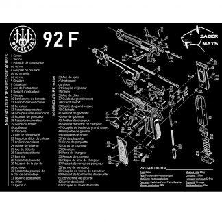 Tapis de démontage en français - Beretta 92