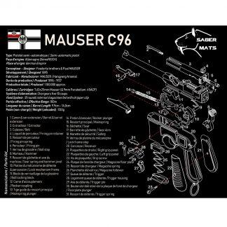 Tapis de démontage en français - Mauser C96