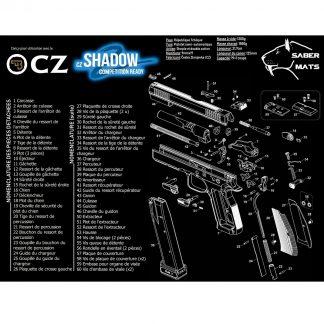 Tapis de démontage en français - CZ 75 Shadow SP02