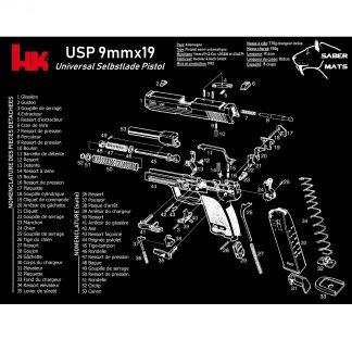 Tapis de démontage en français - HK USP 9