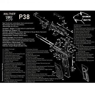 Tapis de démontage en français - Walther P38