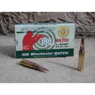 Cartouches Partizan Cal. .308 Winchester 168-Grs FMJ BT x20