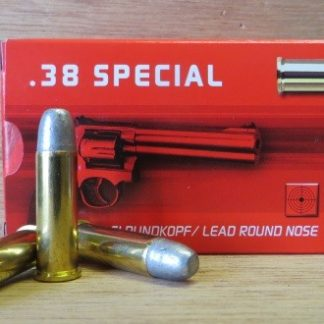 Cartouches Geco .38 Special 158-Grs PBRN x50