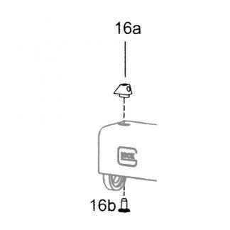 (16-a/b) Guidon 4.1 acier luminescent à visser - Glock
