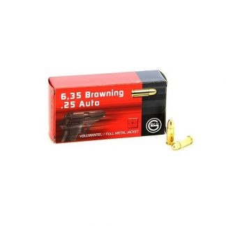 Cartouches Geco 6,35 Browning / 25 Auto 49-Grs FMJ x50