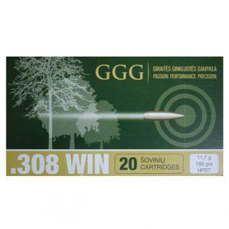 Munitions .308 Win HP BT Match 180gr GGG x20