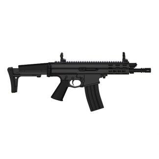 Carabine semi-automatique Robinson Armament XCR-L Micro, canon de 7,5'', Noir cal .223